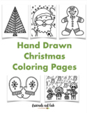 Hand-Drawn Christmas Coloring Pages (Perfect for Class/Fam