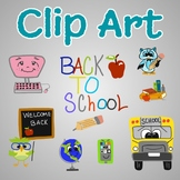 Hand Drawn Clip Art - Back to School - For Use in Digital