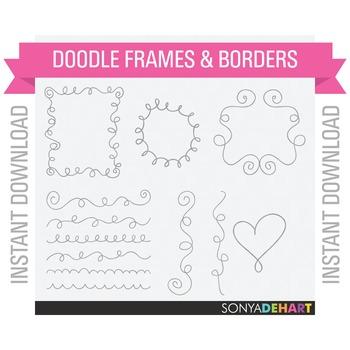 Frames - Doodle Swirl Flourish Clipart
