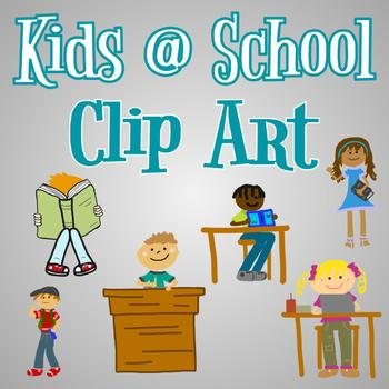 Hand Drawn Clip Art - Kids at School - For Use in Digital Resources!