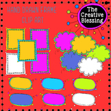 Hand Drawn Colorful Doodle Frames Clip Art
