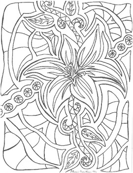 Hand Drawn Coloring Book
