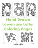 Hand-Drawn Lowercase Letter Coloring Pages