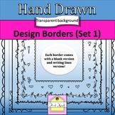Hand Drawn Design Borders Set 1