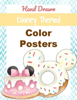 Hand Drawn Disney Inspired Color Posters (classroom decor)