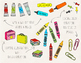 Hand Drawn Doodle Back To School Clipart - 75 images.