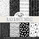 Hand Drawn Doodle Digital Papers & Backgrounds - 20 Black and White Images.