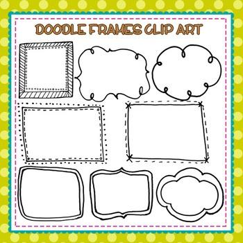 Hand Drawn Doodle Frames Clip Art