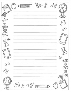 Hand Drawn Doodle Page Border Stationary