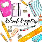 Hand Drawn Doodle School Supplies Clip Art Set