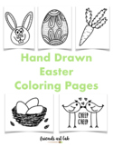 Hand Drawn Easter Coloring Pages (Perfect for Drawing and