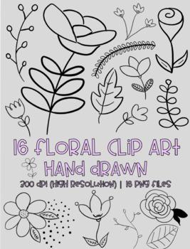 Hand Drawn Floral Clip Art