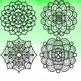 Hand Drawn Floral Mandalas Clip Art