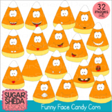 Hand Drawn Funny Face Candy Corn Clipart
