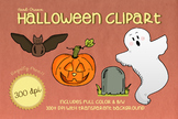 Hand Drawn HALLOWEEN Clipart