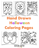Hand-Drawn Halloween Coloring Pages