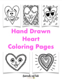 Hand Drawn Heart Coloring Pages (Perfect for Drawing, Painting, and Valentine's)