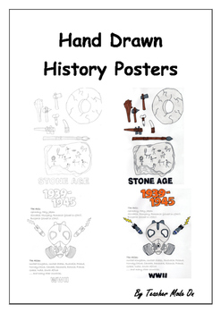 Hand Drawn History Posters.