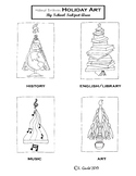 Hand Drawn Holiday Trees By School Subject Area