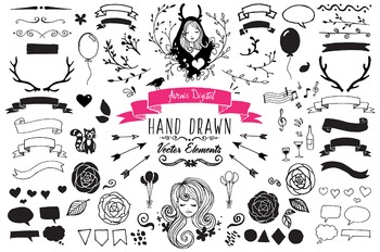 Hand Drawn Ink Clipart and Vectors