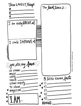 Hand Drawn Journal Prompt Booklet