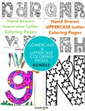 Hand-Drawn Lowercase & Uppercase Letter Coloring Page * BUNDLE *