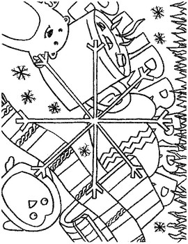 Winter, Spring, Summer, Fall  Coloring Pages Hand Drawn
