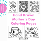 Hand-Drawn Mother's Day Coloring Pages (Perfect for Colori