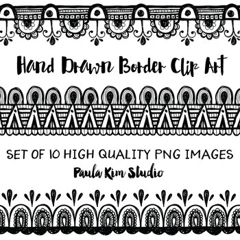 Hand Drawn Page Divider Clip Art