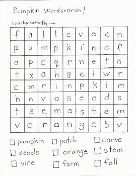 Hand-Drawn Pumpkin Printable Pack!