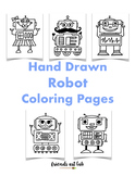 Hand Drawn Robot Coloring Pages