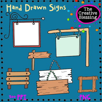 Hand Drawn Signs Clip Art