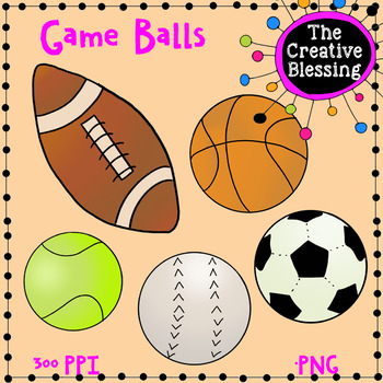 Hand Drawn Sports / Game Ball Clip Art