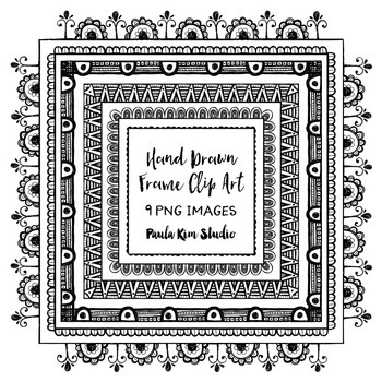 Hand Drawn Square Frame Clipart