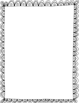 Hand Drawn Transparent Frames / Borders for Commercial Use