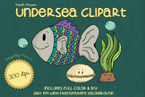 Hand Drawn UNDERSEA V.1 Clip Art