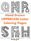 Hand-Drawn UPPERCASE Letter Coloring Pages