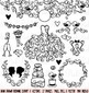 Hand Drawn Wedding Silhouettes Clipart Clip Art - Commercial and Personal Use