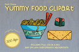 Hand Drawn YUMMY FOOD Clipart