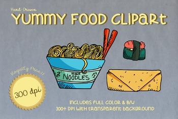 Hand Drawn YUMMY FOOD Clipart