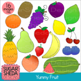 Hand Drawn Yummy Fruit Clipart Digital Graphics