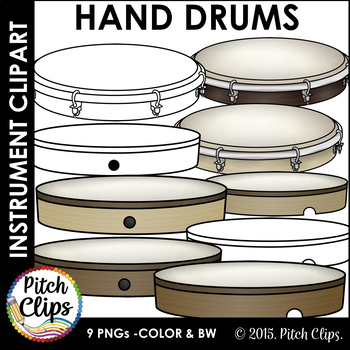 Hand Drums Clipart (Clip art) - Commercial Use, SMART OK!