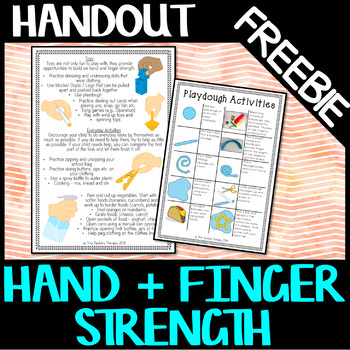 Hand & Finger Strength - Information handout Parents and Teachers - Centre Ideas