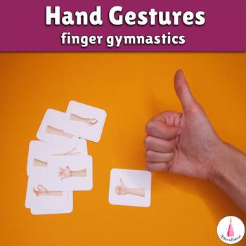 Hand Gestures Finger Gymnastics Cards