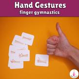 FREE Hand Gestures Finger Gymnastics Cards