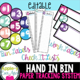 Hand In Bin - Classroom Work Solution