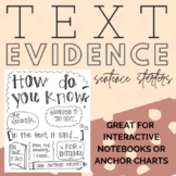 Hand-Lettered Citing Text Evidence Anchor Chart