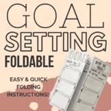 Hand-Lettered Goal Setting Foldable