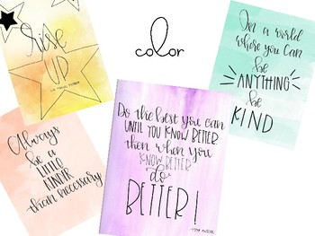 Hand Lettered Quotes