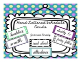Hand Lettered Schedule Cards